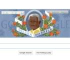 El doodle de hoy recuerda el aniversario 96 de Nelson Mandela