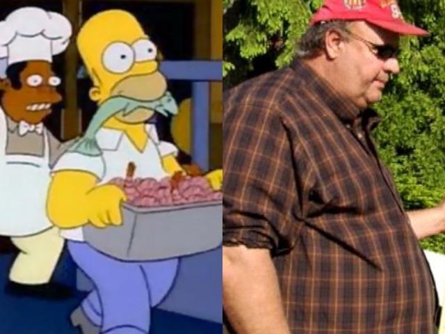 Ocurre en Los Simpsons, y después en la Realidad