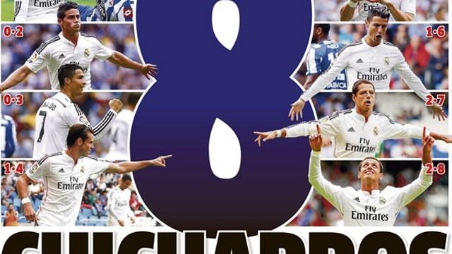 La portada de Marca, tras el doblete de Chicharito con el Real Madrid
