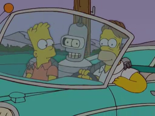 """Primera imagen del crossover de """"The Simpsons"""" y """"Futurama"""""""