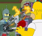 "Primera imagen del crossover de ""The Simpsons"" y ""Futurama"""
