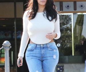 Así va Kim Kardashian al cine