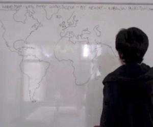Todo el mapa del mundo dibujado de memoria