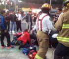 Cae viga de acero de una construcción en Insurgentes, lesiona a 2 personas