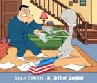 Y con ustedes... los nuevos tenis Adidas de Stan Smith (¿el de American Dad?)