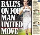 "La portada del ""Express"" que asegura que Gareth Bale se va al United"