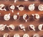 Mira esta animación creada con mil tazas de café latte