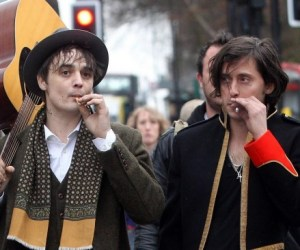 Pete Doherty arrives at Boogaloo in London
