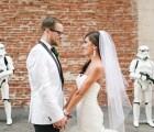 Cuando algunos Stormtroopers se aparecen en tu boda