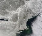 Las nevadas en Estados Unidos vistas desde el espacio