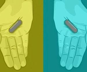 ¡No de nuevo! ¿De qué color ven las pastillas?