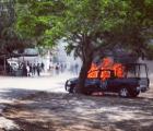 Se enfrentan estudiantes de Ayotzinapa con policías en Guerrero