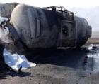 Explota pipa de Pemex en carretera de Veracruz