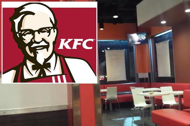 KFC pone video porno en un restaurante mientras todos comen
