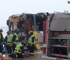 El Autobus de Twin Shadow se vio envuelto en choque múltiple