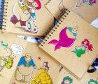 Ilustraciones de Baymax, como otros personajes de Disney