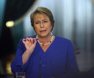 Santiago 04 Diciembre 2008.  La presidenta Michelle Bachelet encabeza la ceremonia de entrega del plan de accion nacional de cambio climatico  Fotos Juan Farias /La tercera/