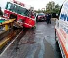 Choca camión de bomberos en Parque Lira y Observatorio