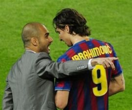 Pep Guardiola, Zlatan Ibrahimovic