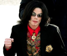 US Pop star Michael Jackson arrives at t