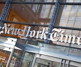 New York Times' Quarterly Profits Falls 58 Percent