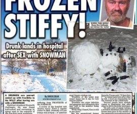 sexo con muñeco de nieve