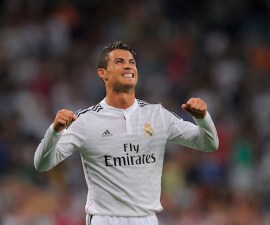 <> at Estadio Santiago Bernabeu on August 25, 2014 in Madrid, Spain.