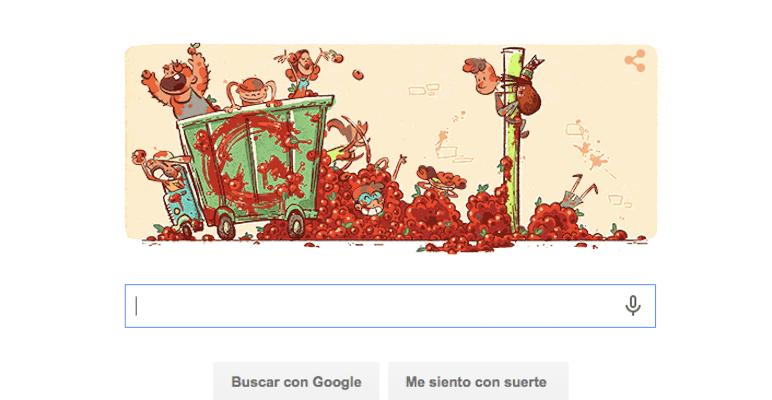La tomatina doodle