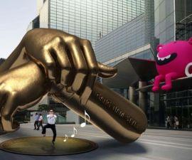 gangnam style estatua