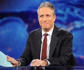 """FILE - This Nov. 30, 2011 file photo shows television host Jon Stewart during a taping of """"The Daily Show with Jon Stewart"""" in New York. The 18th edition of """"Bartlett's Familiar Quotations,"""" has just been released, the first for the electronic age and a chance to take in some of the new faces, events and catchphrases of the past 10 years. General editor Geoffrey O'Brien says he has expanded upon the trend set by his predecessor, Justin Kaplan, of incorporating popular culture into an anthology once known for classical citations. Shakespeare and the Bible still reign, but room also has been made for Steve Jobs, Madonna and Michael Moore, Justin Timberlake and Jon Stewart. (AP Photo/Brad Barket, file)"""