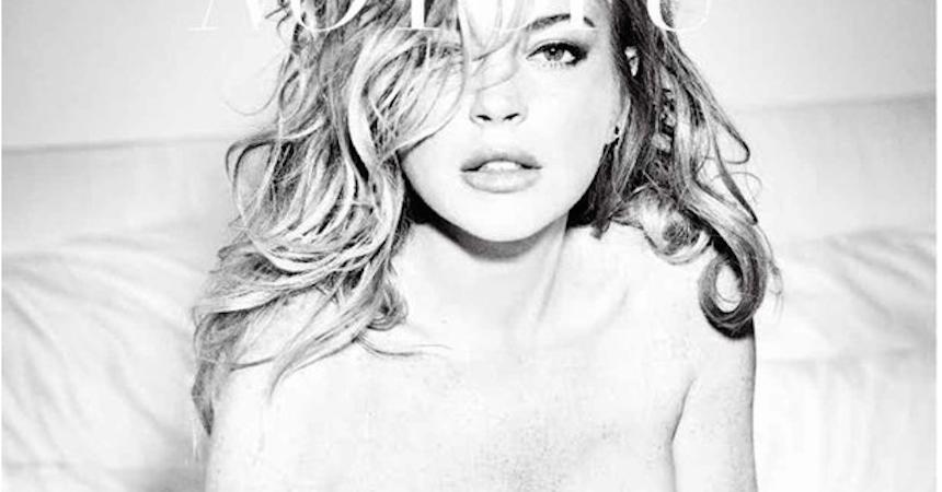 Lindsay Lohan photoshoot No Tofu Magazine