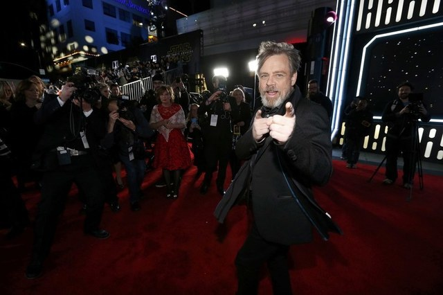 "Actor Mark Hamill arrives at the premiere of ""Star Wars: The Force Awakens"" in Hollywood, California December 14, 2015. REUTERS/Mario Anzuoni"