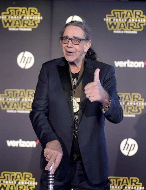 "Actor Peter Mayhew arrives at the premiere of ""Star Wars: The Force Awakens"" in Hollywood, California December 14, 2015. REUTERS/Kevork Djansezian"
