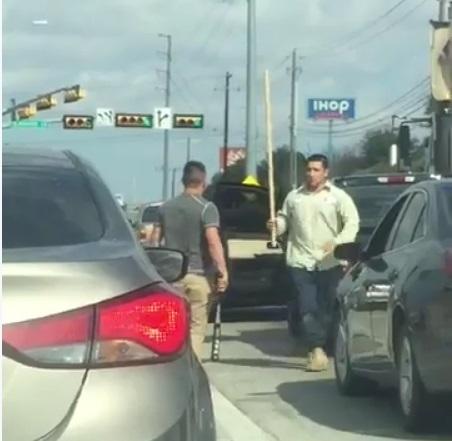 pelea trafico