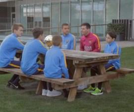 messi entrevista niños barcelona