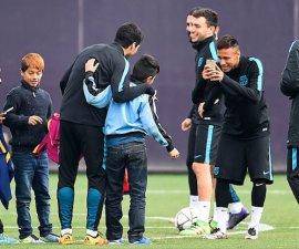 ninos entrenamiento barcelona