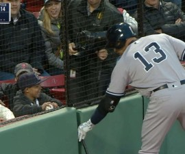 alex rodriguez regalo fan