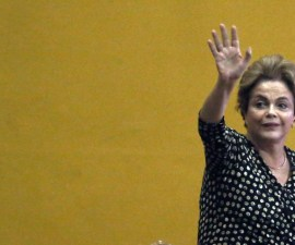 Embattled Brazilian President Dilma Rousseff Addresses Crowd In Brasilia