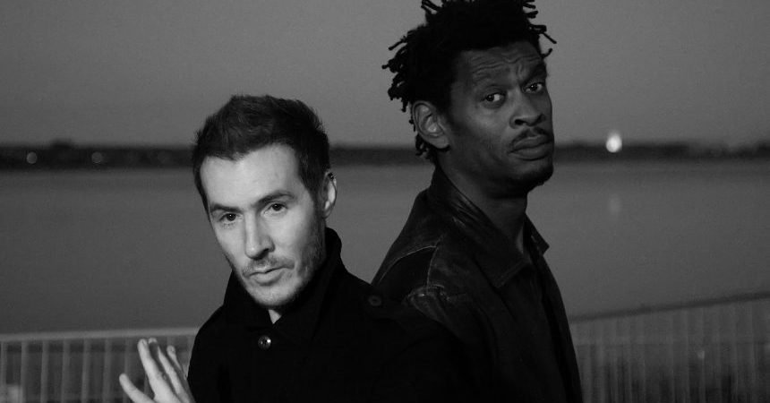 GRAEFENHAINICHEN, SAXONY-ANHALT - JULY 18:  ***EXCLUSIVE ACCESS***  (EDITORS NOTE: Image has been converted to black and white)  British music production duo Massive Attack poses backstage at the Melt! festival in Ferropolis on July 18, 2010 in Graefenhainichen, Germany.  (Photo by Marco Prosch/Getty Images)