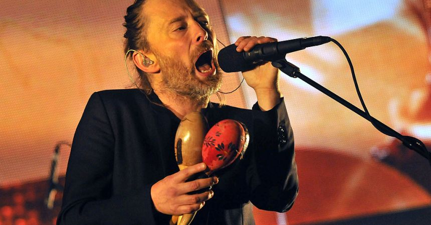 LONDON, ENGLAND - OCTOBER 08:  Thom Yorke of Radiohead performs live on stage at 02 Arena on October 8, 2012 in London, England.  (Photo by Jim Dyson/Getty Images)