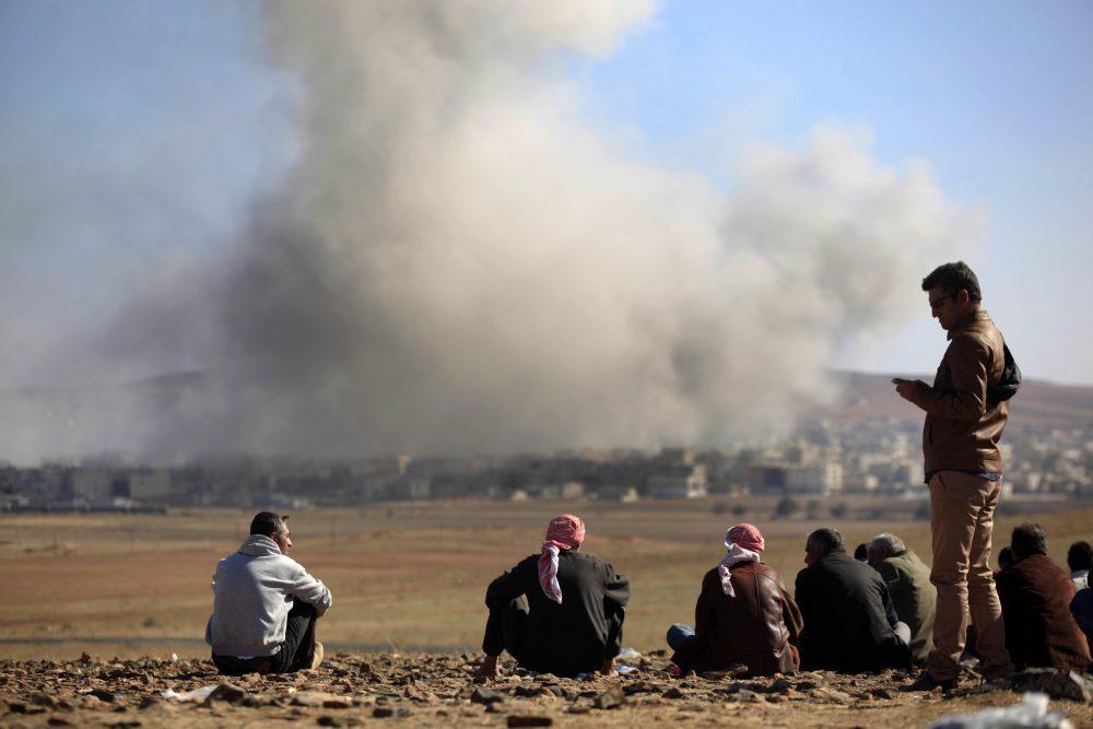Bombardeo del Estado Islamico en Siria