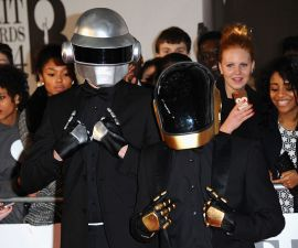 LONDON, ENGLAND - FEBRUARY 19:  Daft Punk impersonators attend The BRIT Awards 2014 at 02 Arena on February 19, 2014 in London, England.  (Photo by Anthony Harvey/Getty Images)