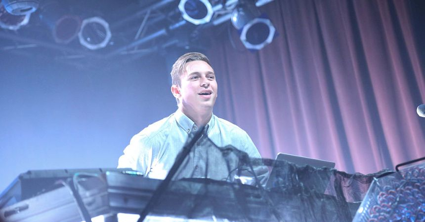 NEW YORK, NY - APRIL 14:  Australian based DJ Harley Edward Streten, aka Flume, performs at the MTV Artist To Watch Event With Flume and The Chainsmokers at Highline Ballroom on April 14, 2014 in New York City.  (Photo by Rob Kim/Getty Images)