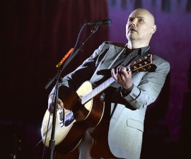 LOS ANGELES, CA - MARCH 26:  Musician Billy Corgan of the Smashing Pumpkins performs at The Theatre at Ace Hotel on March 26, 2016 in Los Angeles, California.  (Photo by Kevin Winter/Getty Images)