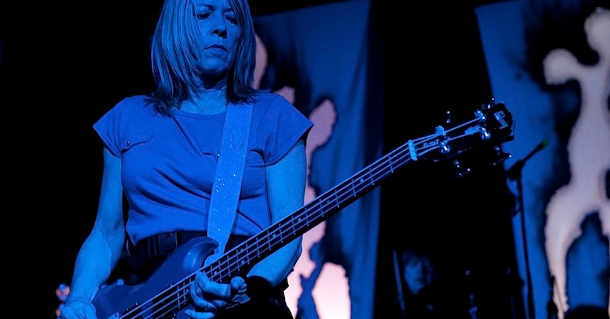 MADRID, SPAIN - APRIL 19:  Kim Gordon of Sonic Youth perfoms on stage at La Riviera on April 19, 2010 in Madrid, Spain.  (Photo by Juan Naharro Gimenez/Getty Images) *** Local Caption *** Kim Gordon