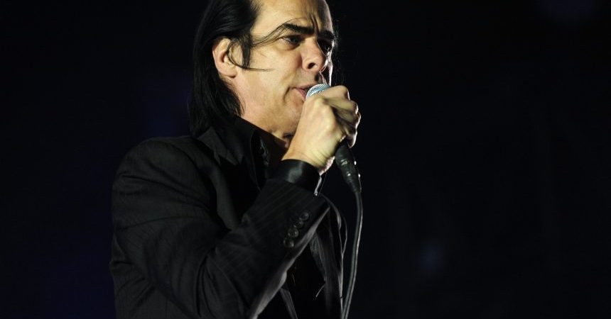 INDIO, CA - APRIL 14:  Musician Nick Cave of the band Nick Cave and the Bad Seeds perform onstage during day 3 of the 2013 Coachella Valley Music & Arts Festival at the Empire Polo Club on April 14, 2013 in Indio, California.  (Photo by Kevin Winter/Getty Images for Coachella)