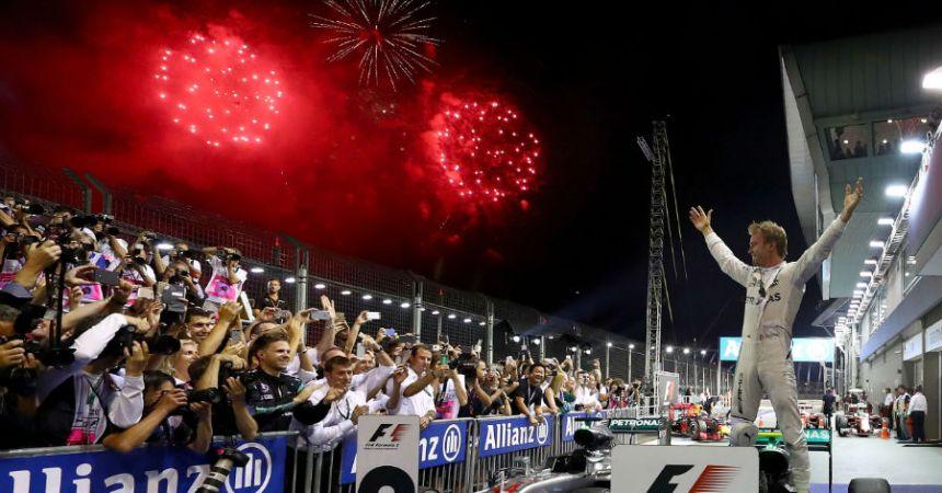Rosberg, nuevo líder en la F1 luego de ganar en Singapur