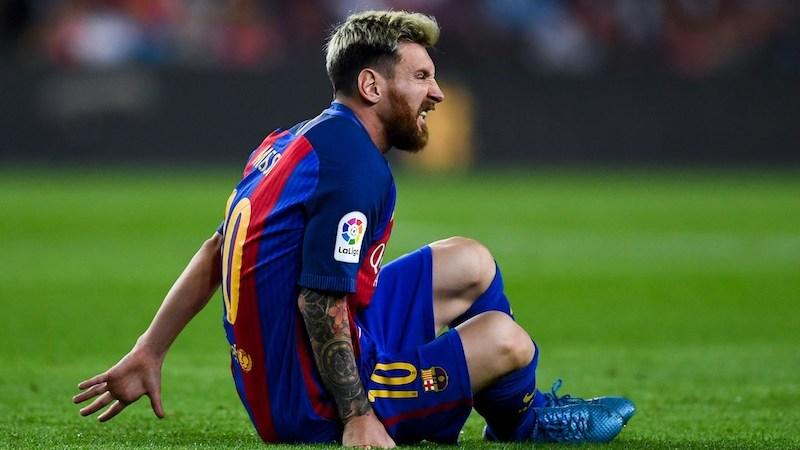 Barcelona Messi lesionado
