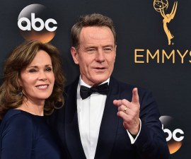 LOS ANGELES, CA - SEPTEMBER 18:  Actors Robin Dearden (L) and Bryan Cranston attend the 68th Annual Primetime Emmy Awards at Microsoft Theater on September 18, 2016 in Los Angeles, California.  (Photo by Alberto E. Rodriguez/Getty Images)