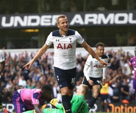 Harry Kane lideró al Tottenham al tercer puesto de la Premier